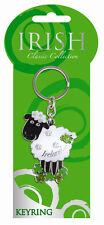 Key Ring Black and White Sheep Key chain Irish Classic collection Ireland 7025