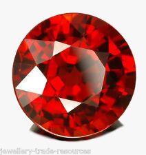 4 mm redondo Natural Rojo granate Mozambique Joya Piedra Preciosa