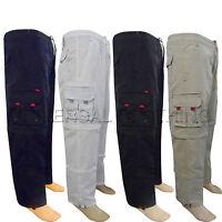 Mens Elasticated Summer Trousers Original Cargo Combat lightweight Pants 3 In 1