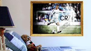 Cristiano Ronaldo Real Madrid Footballer Wall Frame Sticker Art Decal Mural Art