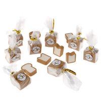 5Bags 1:12 Dollhouse Miniature Simulation Toast Bread Kitchen Accessories T YK