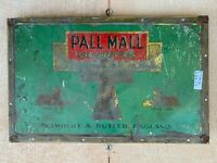 Antique Old Hand Crafted Pall Mall Cigarettes Tin Sign Adv Board