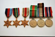 Australian WW2 group medals Africa Star Pacific Star group of six Victorian
