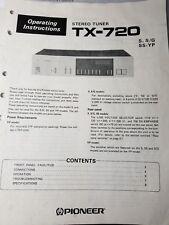PIONEER TX-720 INSTRUCTION MANUAL