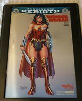 Wonder Woman #1 2016 SDCC Foil Convention Exclusive Jim Lee Variant NM+ ON SALE