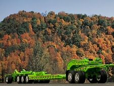 1/64 Dcp Lime Green Fontaine Magnitude Lowboy, Jeep, Spreader & Flip Axle Set