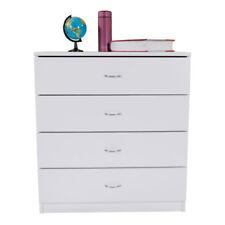 Bedroom Storage Dresser Nightstand 4 Drawer Chest Cabinet Wooden Furniture White