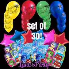 ❤ SET OF 30 Disneys Pixar Inside Out Birthday Party Balloon Anger Disgust Joy❤