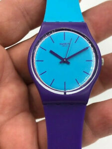Swatch Watch GV128 Women's Mixed Up Multicolor Rubber Swiss Quartz Working