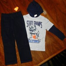 Athletic Pant Set Gymboree 2pc Navy Gray State Champs Ca Boy siz 00004000 e 10 New