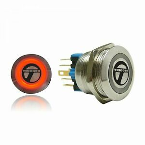 Trigger Billet Button :: Red Illumination trigger horns TRGA2 hot rod  rat