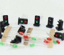 JTD19 10 Stk. Signale LED rot/grün DIY Dwarf Zwergsignale Spur H0 / TT / 00 NEU