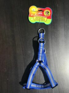 Step In Dog Harness with reflective strip - FREE P&P - Blue-Red-Black