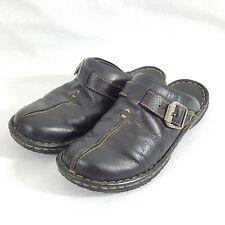 BORN Womens Slip On Oxfords Shoes Sz 8 EUR 39 Black Leather M/W W31617