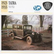 1923-1933 TATRA T11/T12 Classic Car Photograph / Information Maxi Card