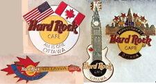 4 Hard Rock Cafe 1990s OTTAWA Canada PIN LOT Rare Guitars Anniversary & HRC Logo
