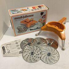 Vintage/Pre-Owned*Moulinex Mouli-Juliee*avec 5 disques*Model 445*Complete w/Box