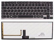 TOSHIBA Z830 Z830-S8301 Z830-S830 Z835 KEYBOARD UK BACKLIT GREY FRAME F255