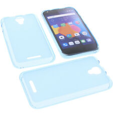 Funda para Alcatel One Touch Pixi 4 5.0 3G Funda para Móvil Carcasa TPU Azul