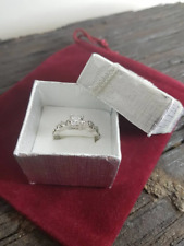 tone and cubic zirconia stones size P Here we have a stunning ladies ring silver