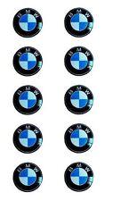 10 bmw emblema logotipo clave control remoto set frase 11mm-emblema sticker nuevo 13