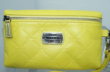 New Longchamp LM Cuir Yellow Wristlet Pouchette Wallet Pouch Leather
