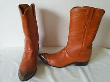 Vtg. JUSTIN Women's Peanut brown Soft leather cowboy/western boots Size 9 A