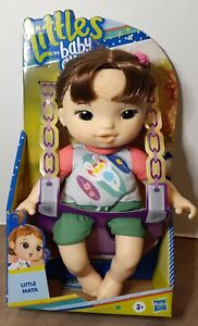 """LITTLES by BABY ALIVE LITTLE MAYA 9"""" BABY DOLL WITH YELLOW CAT COMB HASBRO"""