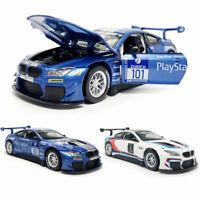 1:32 Scale BMW M6 GT3 Model Car Diecast Toy Vehicle Sound & Light Kids Gift