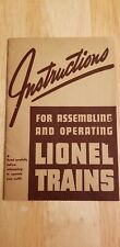 Lionel Model Trains Instructions From The 40's