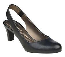 "Easy Spirit Audrina black leather slingback pumps 2.75 "" heels sz 8 Med NEW"