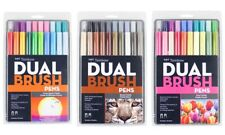 Tombow Dual Brush Artists Twin Tip Pen Markers - Set of 20 (Choose Your Pack)
