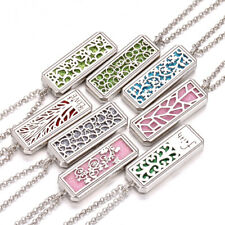 Aromatherapy Essential Oil Diffuser Necklace Stainless Steel Locket  Pendant