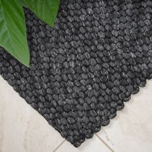Wool Pebble Charcoal Lifestyle Rug 130x 180 cm FREE DELIVERY*