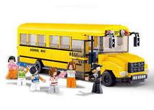 LARGE SCHOOL BUS 392 pieces Construction Building Bricks Compatible