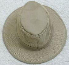 Unbranded Man's Men's Bucket Dress Top Hat Size One Size Fits Most Beige Mesh