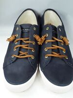 Sperry Top-Sider Seacoast Womens Sz 11M Navy Canvas Sneakers STS90550  Preowned
