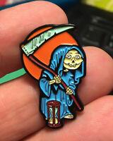 GPK enamel pin Grim Jim Garbage Pail Kids retro 80s hat lapel bag reaper humor