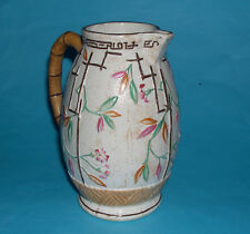 Brownhill Pottery Company - Attractive 1930's Bamboo Style Design In Relief Jug.