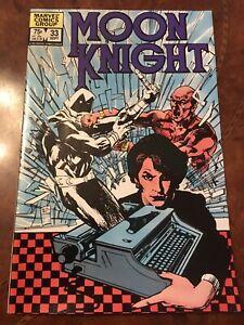 Marvel Moon Knight #33 comic book bronze age 1983