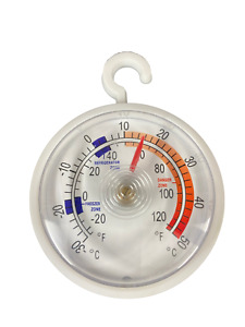 Dial Fridge/Freezer Thermometer/Kitchen Appliance - With Hanging Hook Must Have