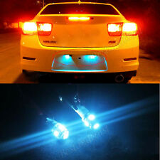 2X ICE BLUE 5 SMD LED LICENSE PLATE TAG LIGHT BULB FRAME T10 194 168 2825 W5W
