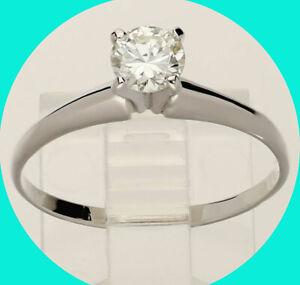 50CT H VVS diamond solitaire engagement ring 14K white gold round brilliant