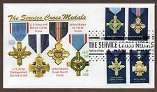 2016 SERVICE CROSS MEDALS ~ GLEN CACHET FIRST DAY COVER 4 STAMPS ON COVER