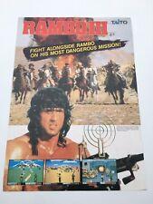 Original Flyer Taito Rambo 3 Arcade Game Jamma Borne Arcade 1980