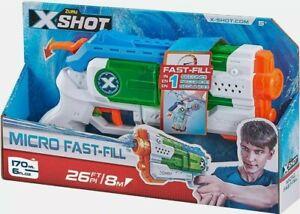 ZURU X-SHOT Micro Fast-Fill Water Blaster - Water Pistol Gun Toy - XSHOT