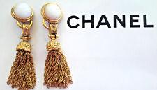 CHANEL Vintage golden Tassel Drop Earrings 1994 Ohrringe