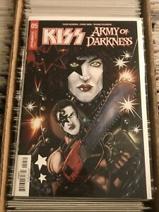 KISS ARMY OF DARKNESS #5 KEN HAESER VARIANT COVER C 2018 peter criss catman