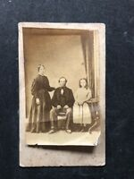Victorian Carte De Visite CDV: Unknown Family