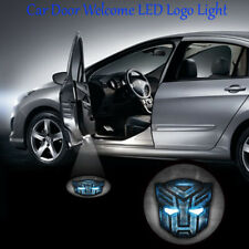 2x Blue Transformer Autobots Car Door Step Projector Ghost Shadow LED Light
